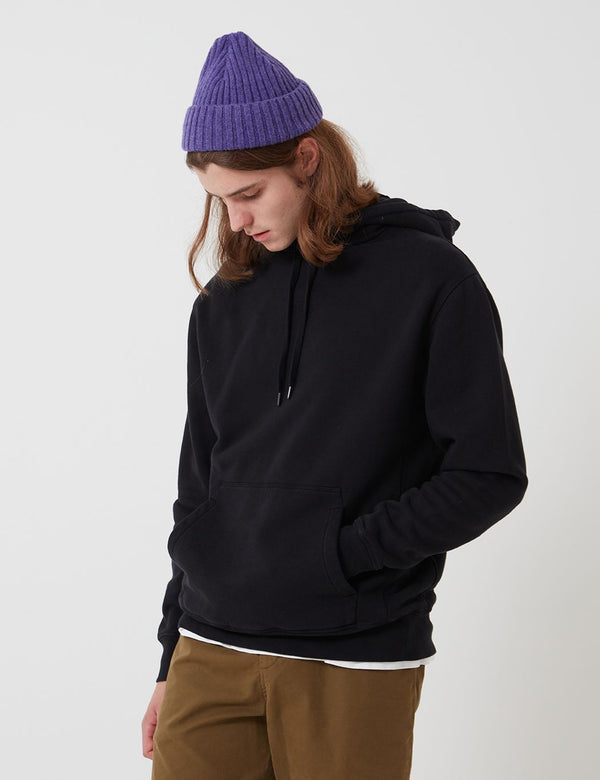 Bhode Oversized Pocket Hoodie (Organic Cotton) - Black