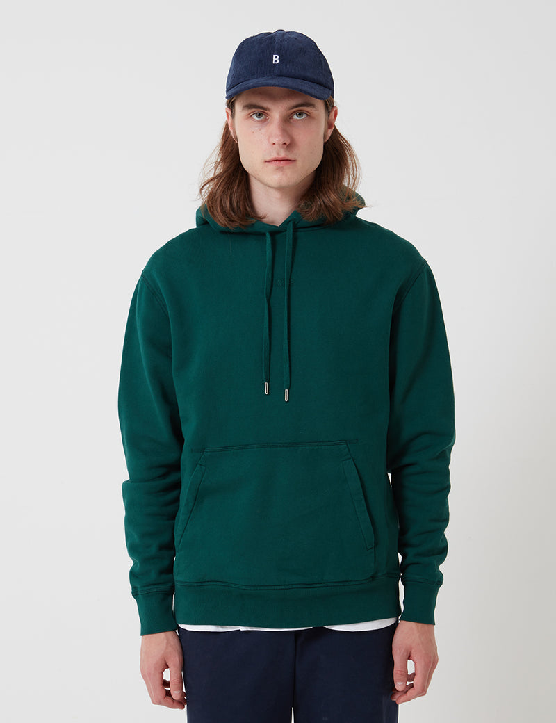 Bhode Oversized Pocket Hoodie (Organic Cotton 360gm2) - Forest Green