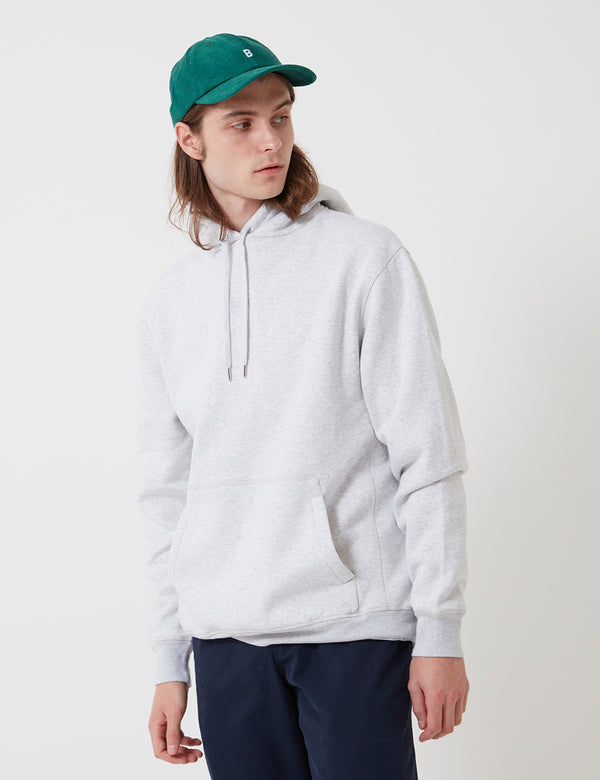 Bhode Oversized Pocket Hoodie (Organic Cotton) - Grey Marl