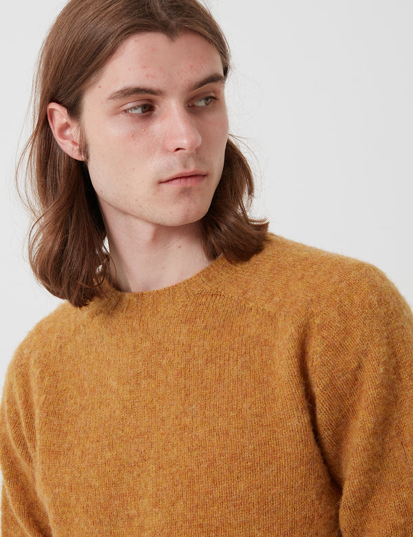 Bhode Supersoft Lambswool Jumper (Made in Scotland) - Cumin Yellow