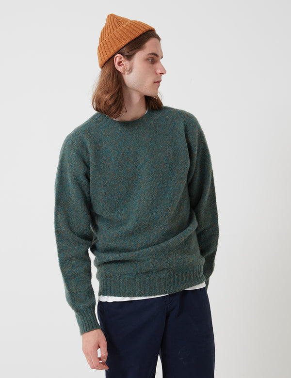 Bhode Supersoft Lambswool Jumper (Hergestellt in Schottland) - Jadegrün