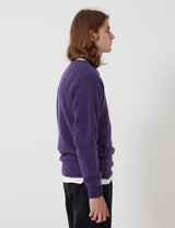 Bhode Supersoft Lambswool Jumper (Hergestellt in Schottland) - Royal Violet