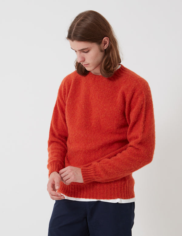 Bhode Supersoft Lambswool Jumper (Hergestellt in Schottland) - Spice Orange