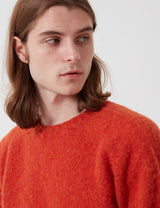 Bhode Supersoft Lambswool Jumper (Made in Scotland) - Spice Orange