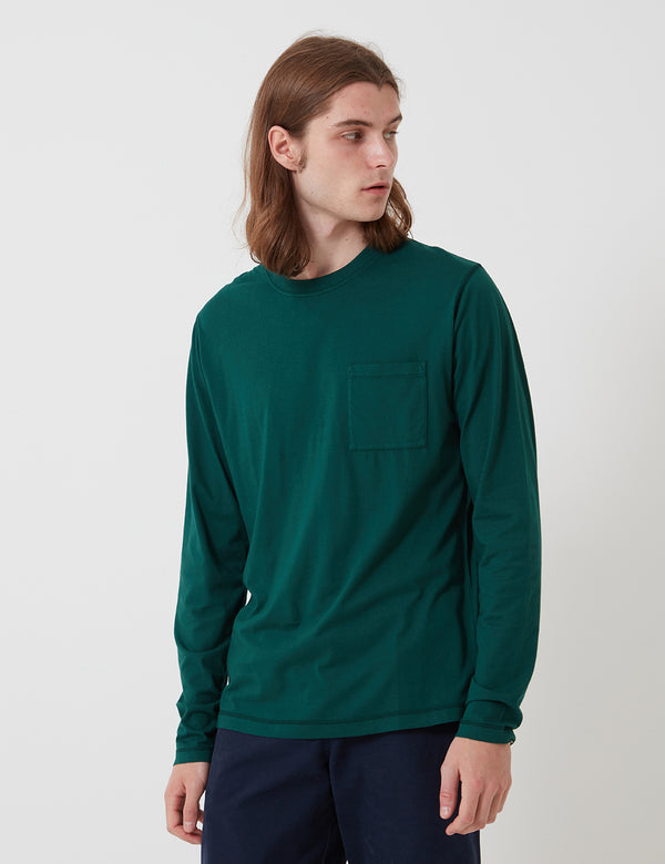 Bhode Besuto L/S T-Shirt (Organic Cotton) - Forest Green