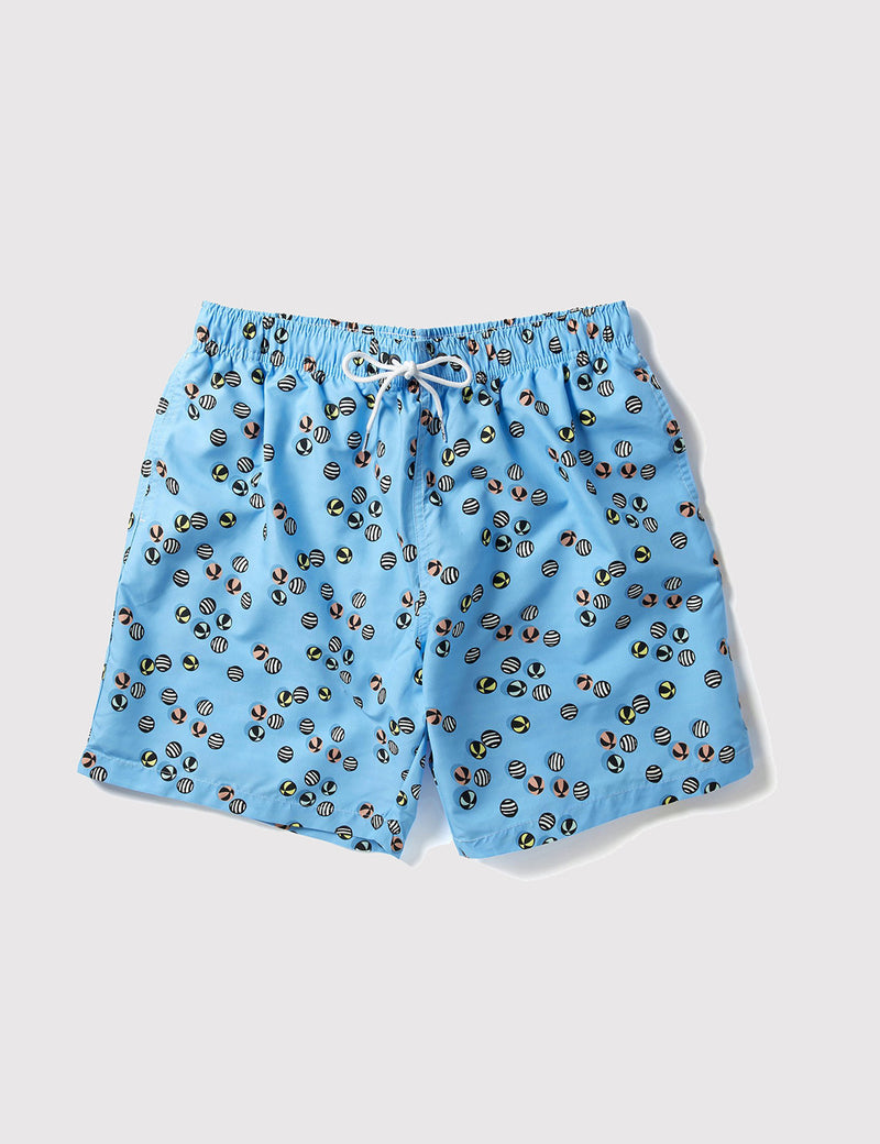 Boardies Inflatiballs Swim Shorts (Mid-Length) - Blue