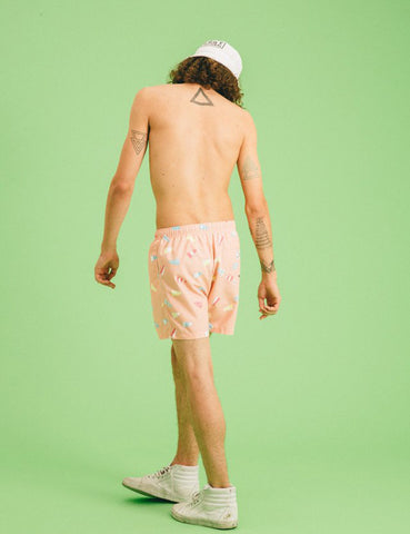 Boardies Flag Swim Shorts (Mid-Length) - Pink