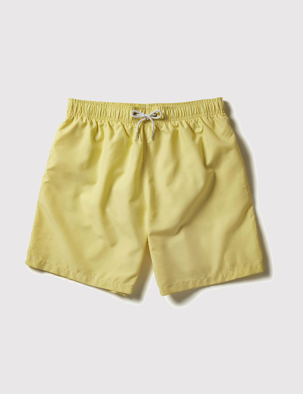 Boardies Drawstring Swim Shorts (Mid-Length) - Yellow