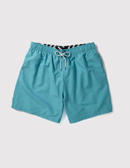 Boardies Drawstring Swim Shorts (Mid-Length) - Aqua Green