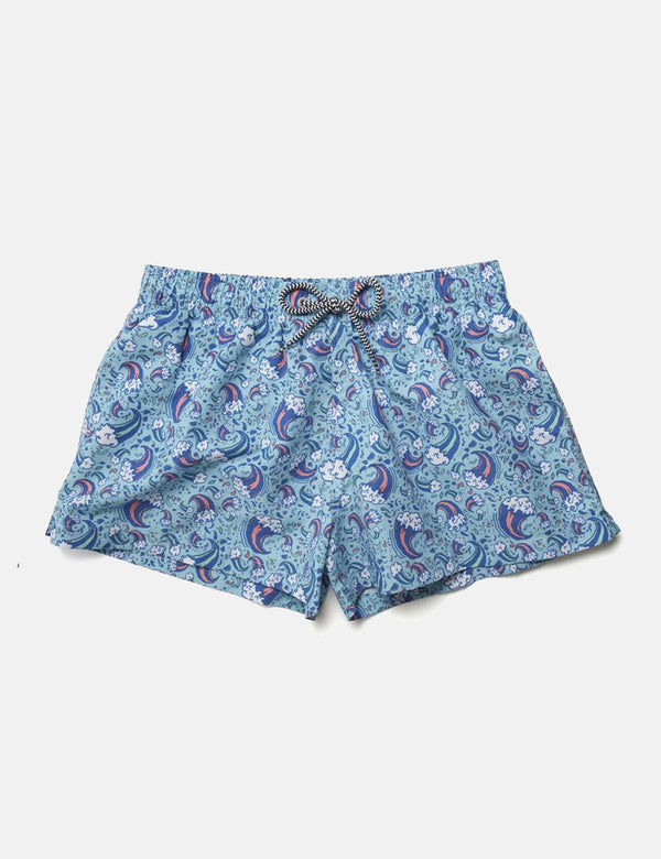 Short de Bain Boardies Wavey Dayz Shortie - Bleu