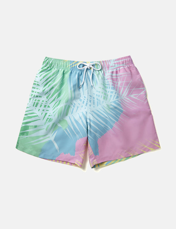 Boardies Tropicano Swim Shorts (Mid-Length) - Blue