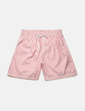 Boardies Stripes Drawstring Swim Shorts  (Short Length) - Pink/White