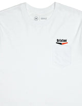 Brixton Velocity Pocket T-Shirt - White