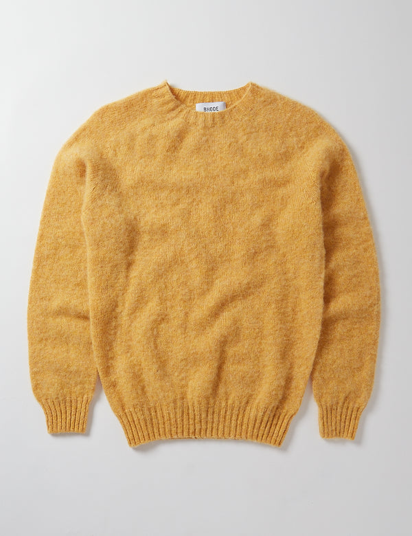 Bhode Supersoft Lambswool Jumper (Hergestellt in Schottland) - Marzipan