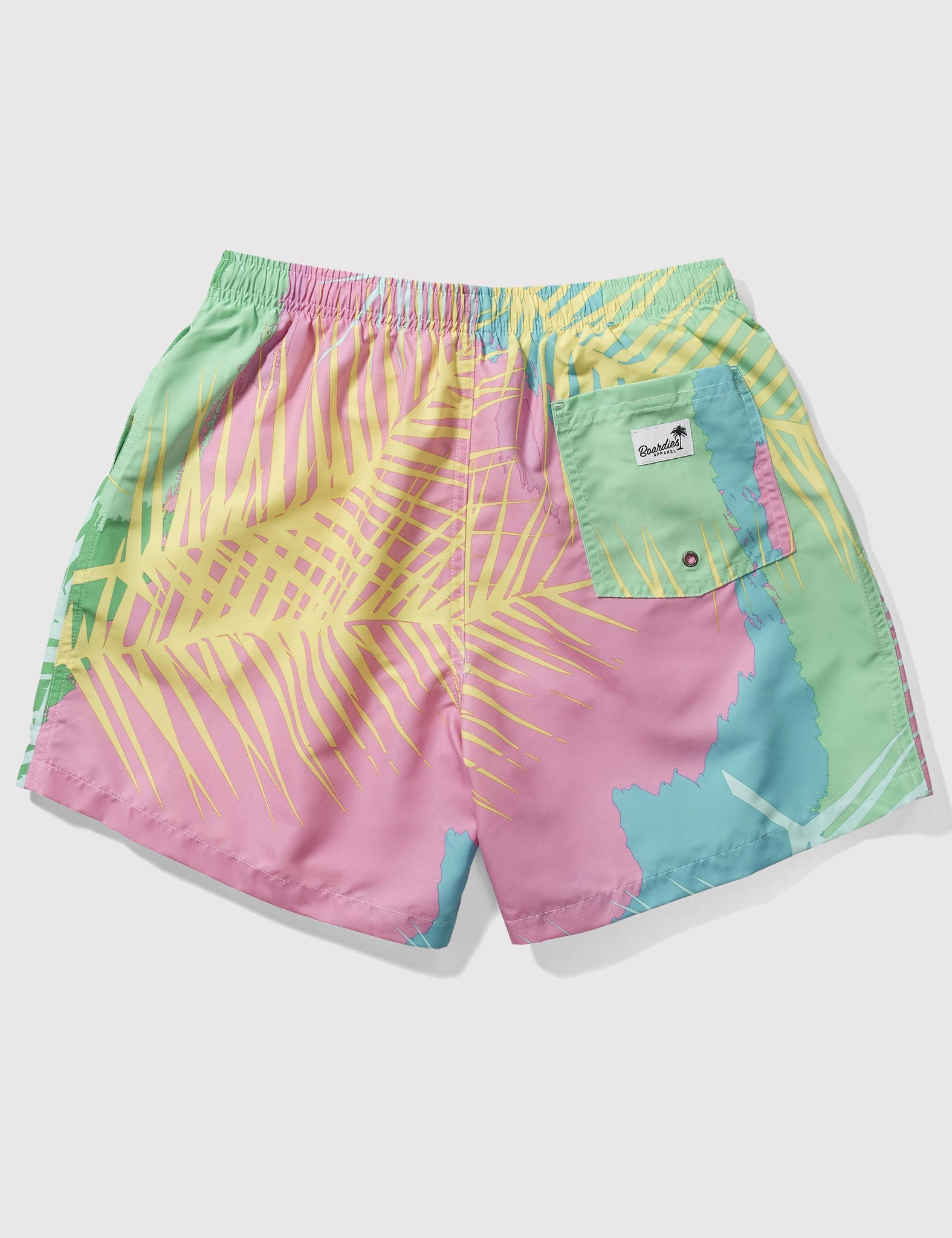 Boardies Tropicano Drawstring Swim Shorts (Short Length) - Pink/Green