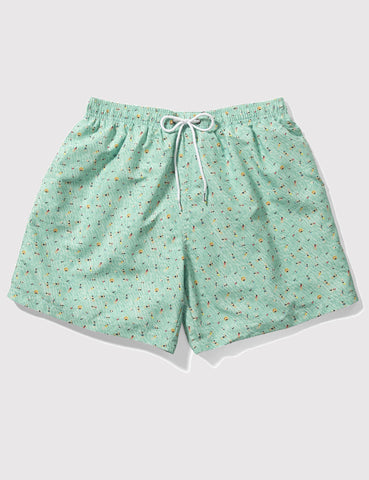 Boardies x Kestin Hare Drawstring Swim Shorts (Mid-Length) - Mint Green