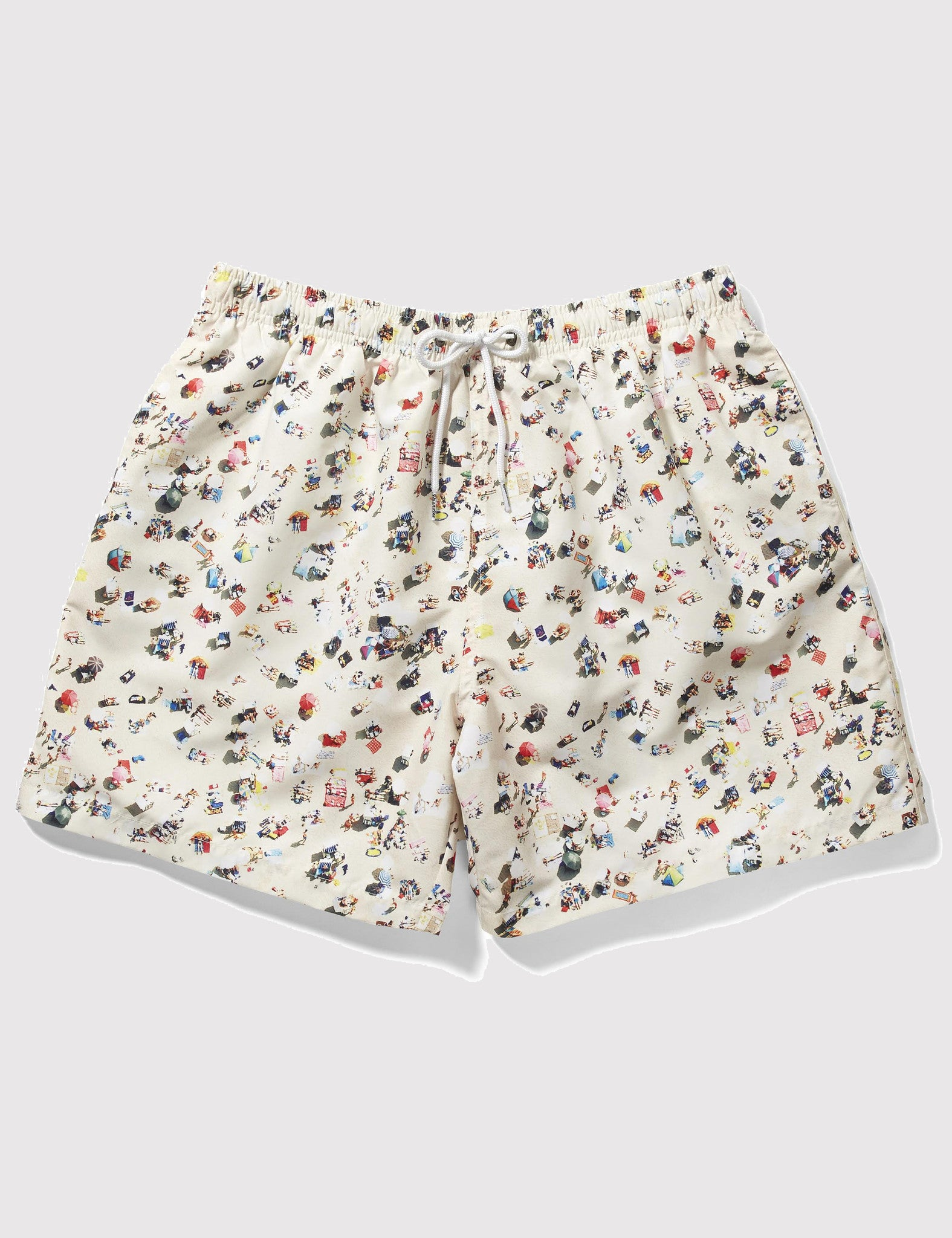 Boardies x Kestin Hare Drawstring Swim Shorts (Mid-Length) - Stone