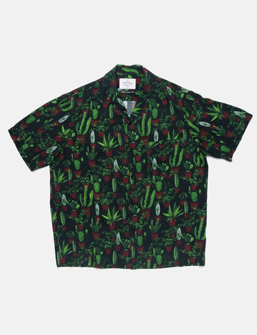 Portuguese Flannel Cactus Short Sleeve Shirt - Green/Black