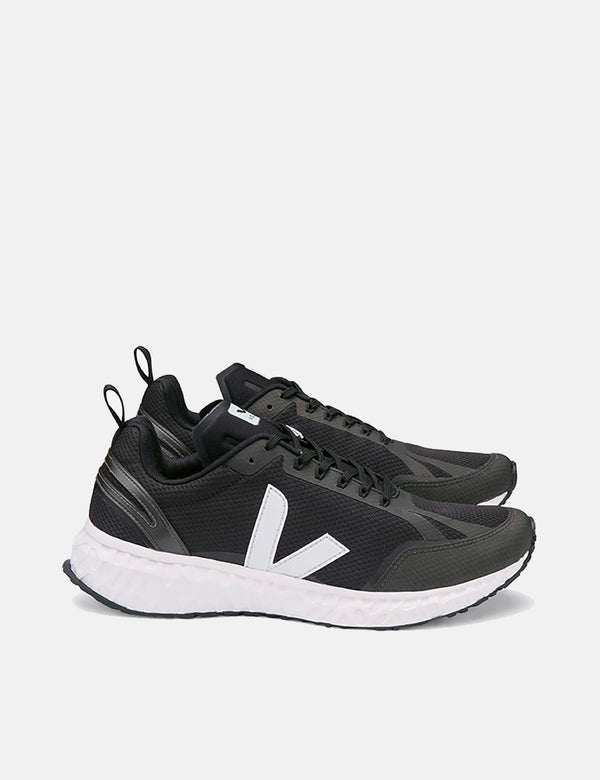 Veja Condor Mesh Running Shoes - Black/White