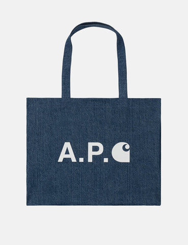 Carhartt-WIP x A.P.C. Shopping Bag - Washed Indigo