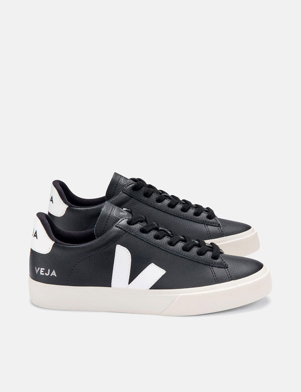 Womens Veja Campo Trainers (Chrome Free) - Black/White