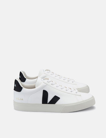 Veja Campo Trainers (Chrome Free Leather) - White/Black