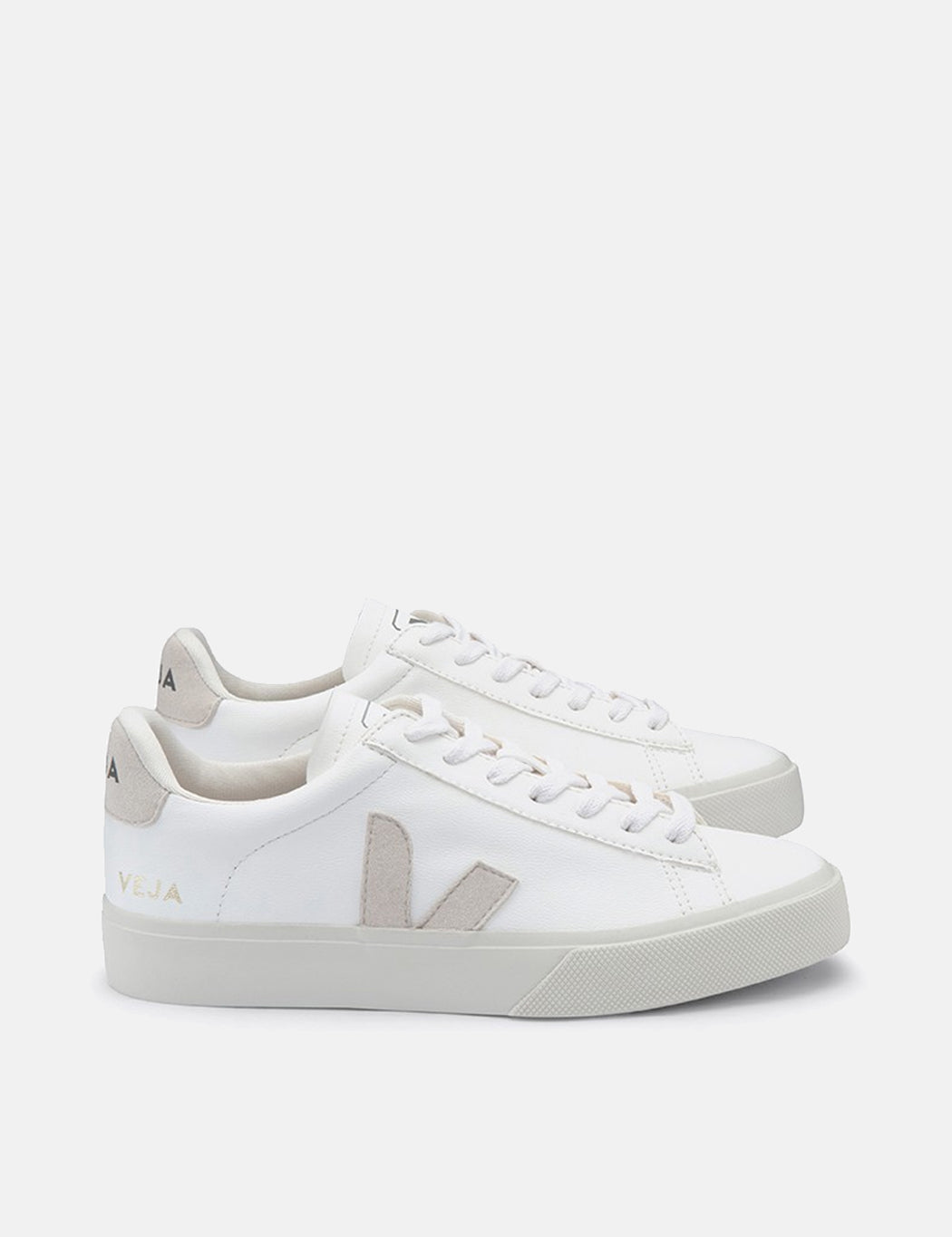 Veja Campo Trainers (Chrome Free) - White/Natural | URBAN EXCESS.