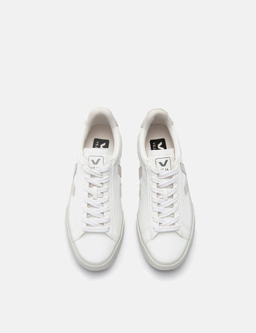 Veja Campo Trainers (Chrome Free Leather) - White/Natural