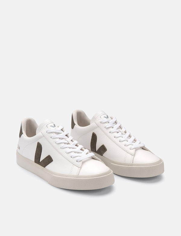 Womens Veja Campo (Chrome Free) Trainers - Extra White/Khaki