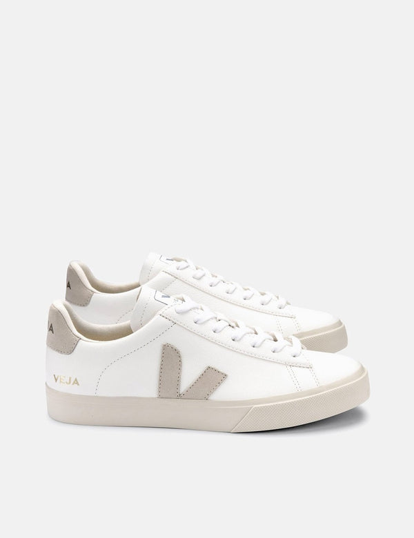 Veja Campo (Chrome Free) Trainers - Extra White/Natural Suede