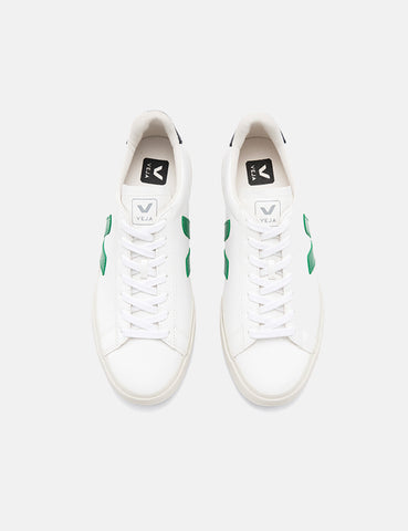 Womens Veja Campo Trainers (Chrome Free Leather) - White/Emeraude/Black