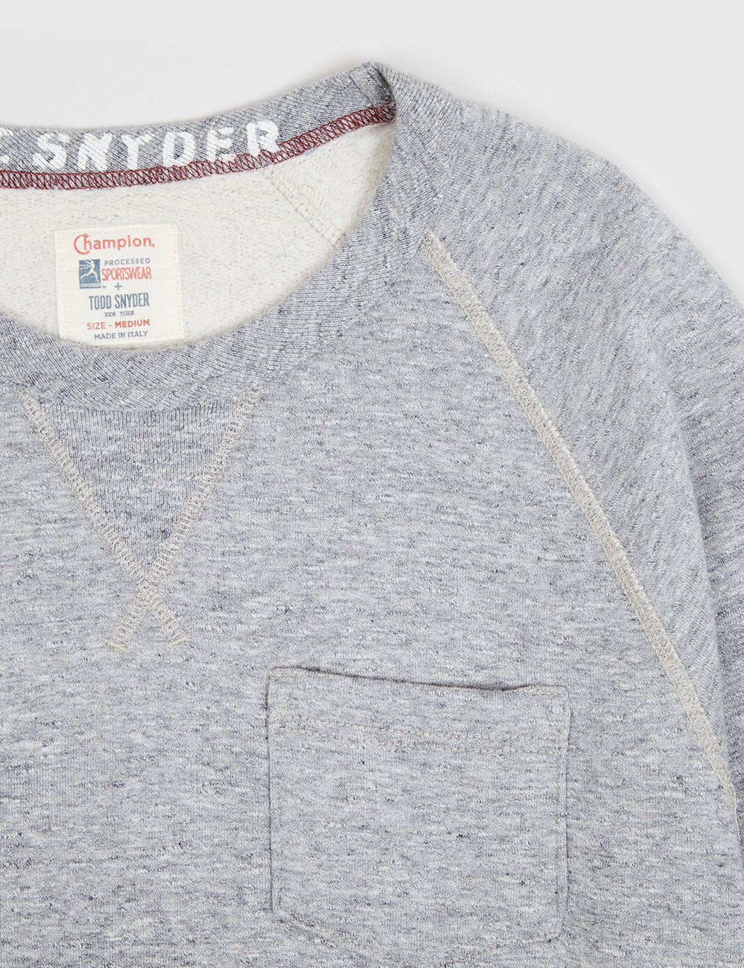 Champion x Todd Snyder Crewneck Sweat - Grey Heather