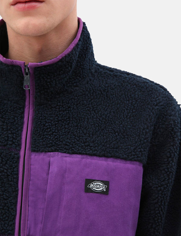Dickies Red Chute Sherpa Zip Through - Dark Navy