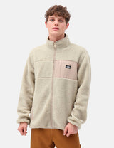 Dickies Red Chute Sherpa Zip Through - Light Taupe