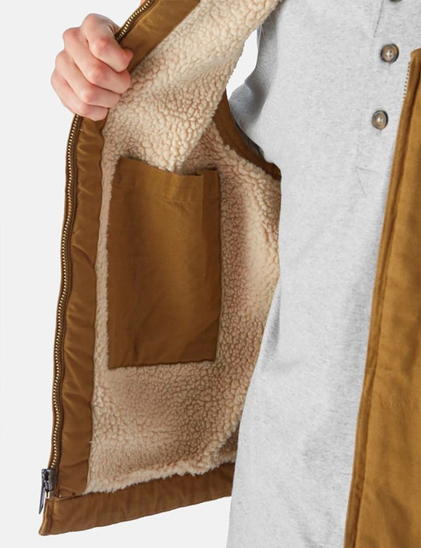 Dickies Sherpa Lined Duck Vest - Brown