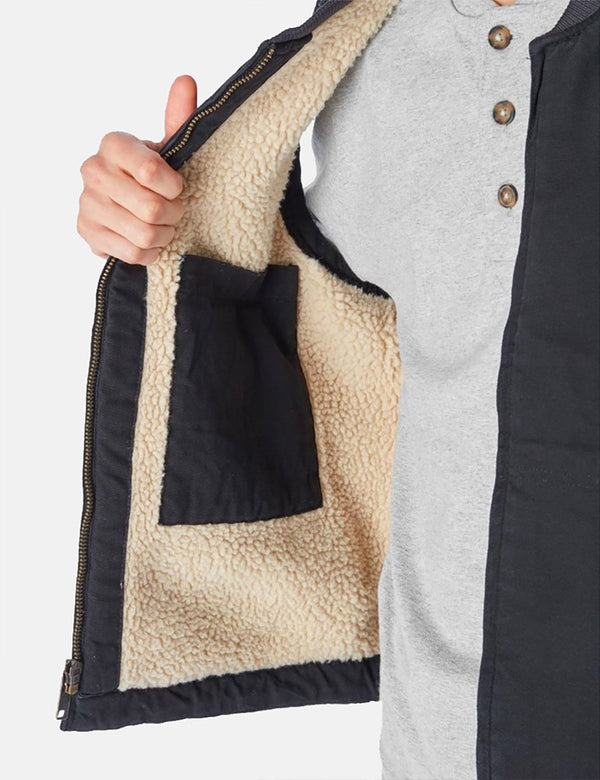 Dickies Sherpa Lined Duck Vest - Black