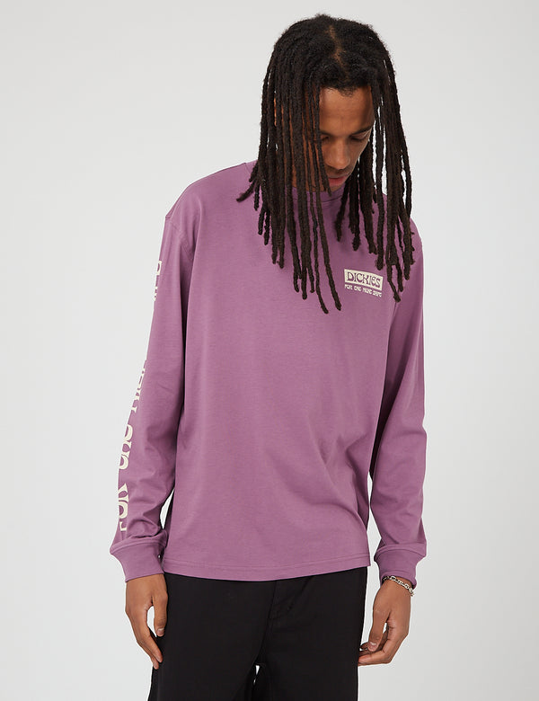 Dickies Willernie Long Sleeve T-Shirt - Purple Gumdrop