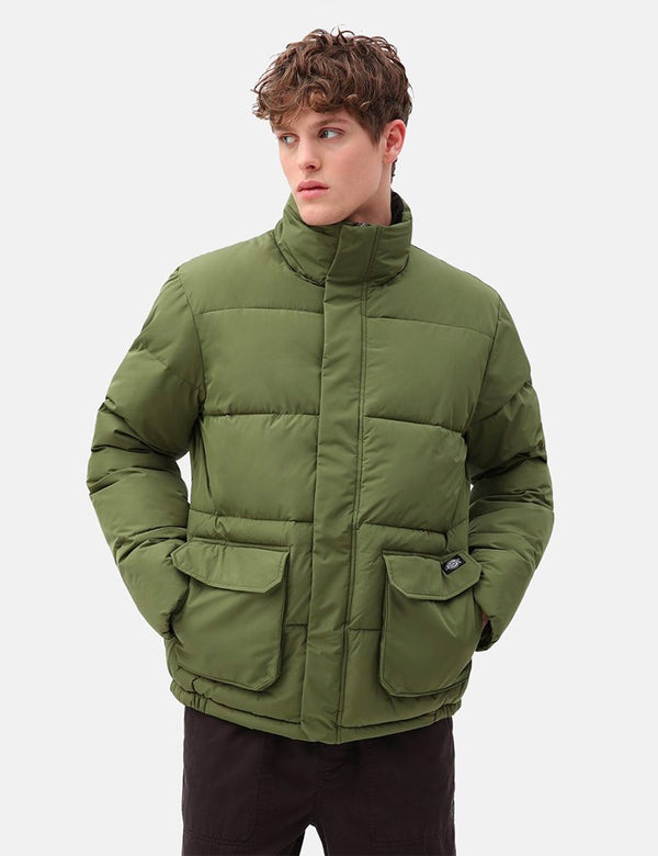 Dickies Olaton Puffa Jacket - Army Green