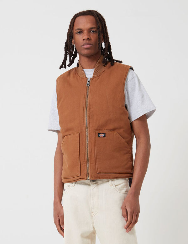 Dickies Lawrenceburg Vest - Brown Duck