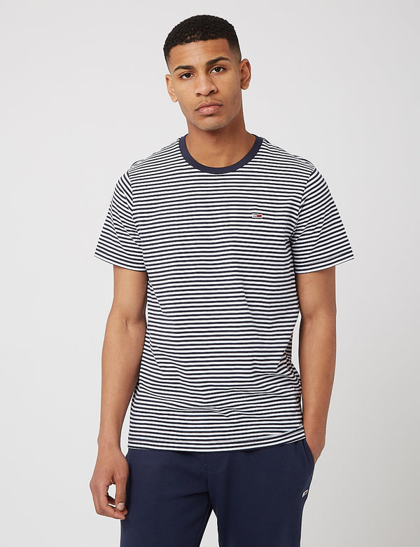 Tommy Jeans Classic Stripe T-Shirt - Navy Blue