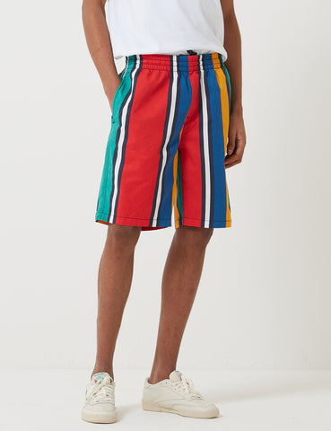 Tommy Hilfiger Stripe Basketball Shorts - Dynasty Green/Blue
