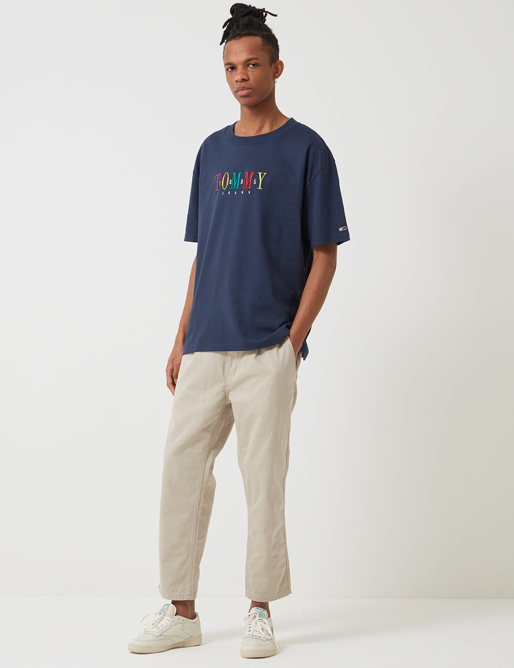 3e0e30aad8 Tommy Hilfiger 85 Short Sleeve T-Shirt - Black Iris | URBAN EXCESS.