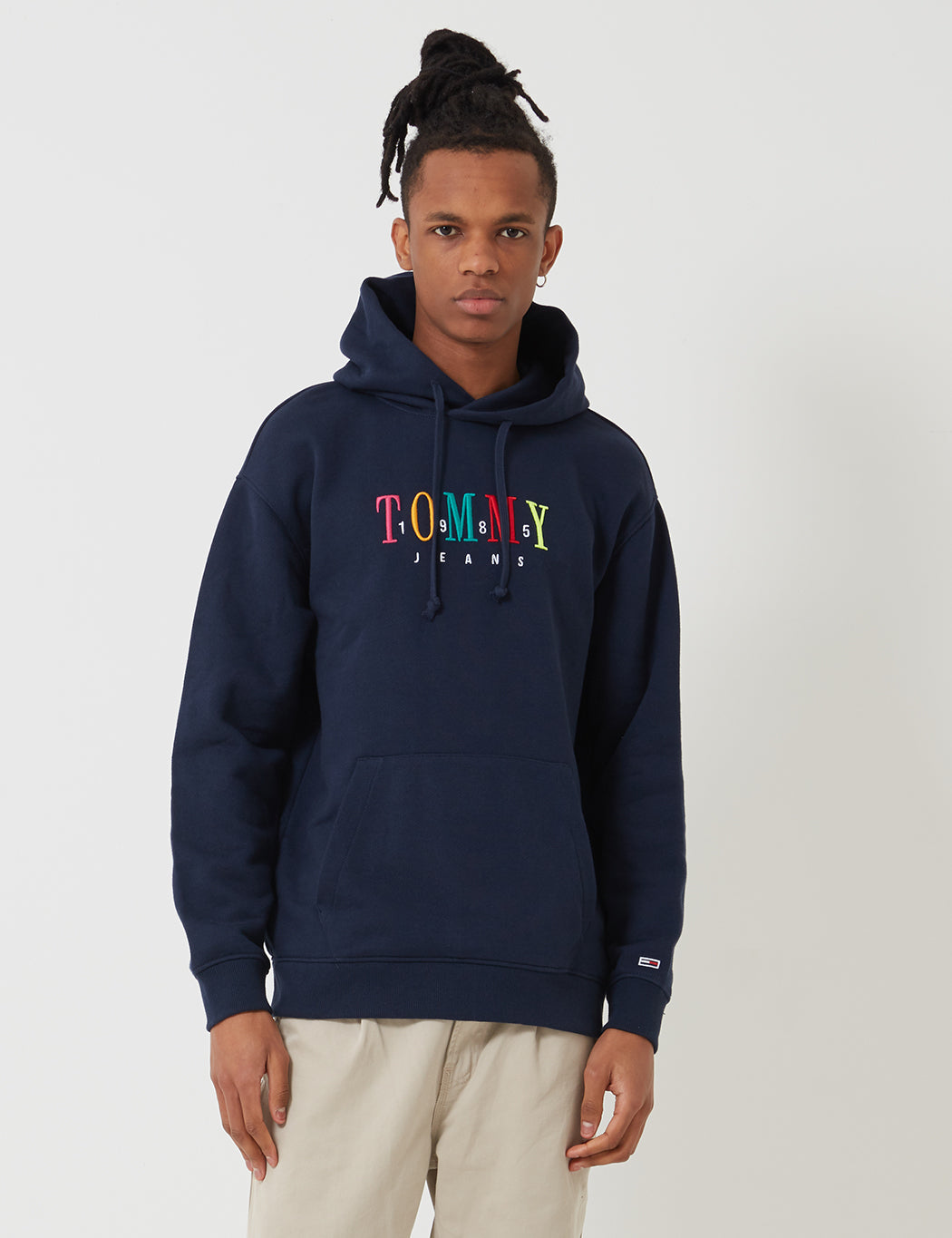 7aacdc162 Tommy Hilfiger Graphic Hooded Sweatshirt - Black Iris | URBAN EXCESS.