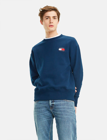 Tommy Jeans Badge Logo Sweatshirt - Black Iris/Navy