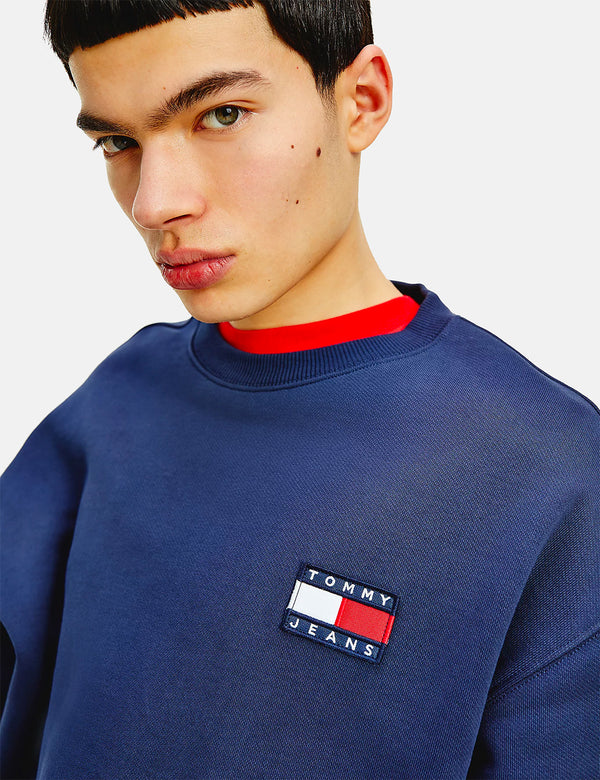 Tommy Jeans Badge Logo Sweatshirt (Relaxed) - Navy Blue
