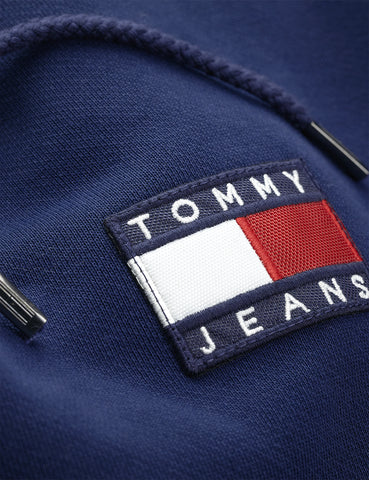 Tommy Jeans Badge Logo Hoodie - Black Iris/Navy