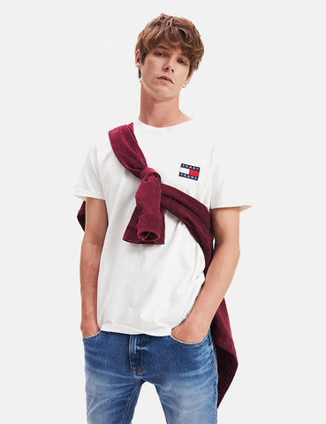 Tommy Jeans Badge Logo T-Shirt - Classic White