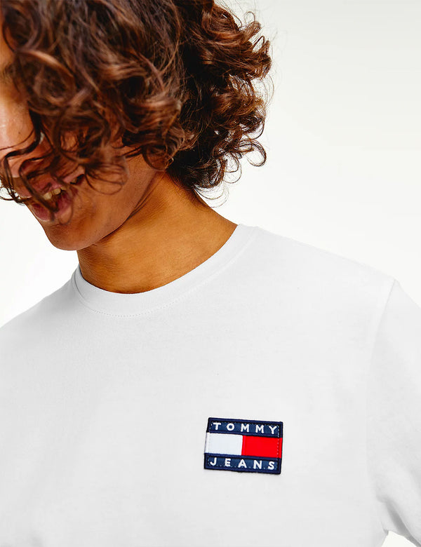 Tommy Jeans Badge Logo T-Shirt (Organic Cotton) - White