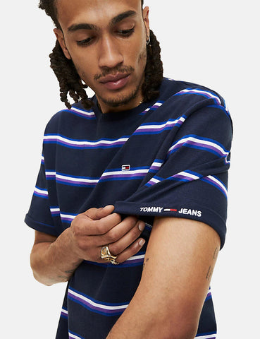 Tommy Jeans Retro Stripe T-Shirt - Black Iris