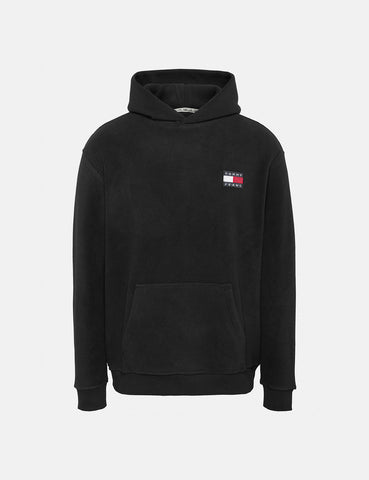Tommy Jeans Polar Fleece Badge Hoodie - Tommy Black